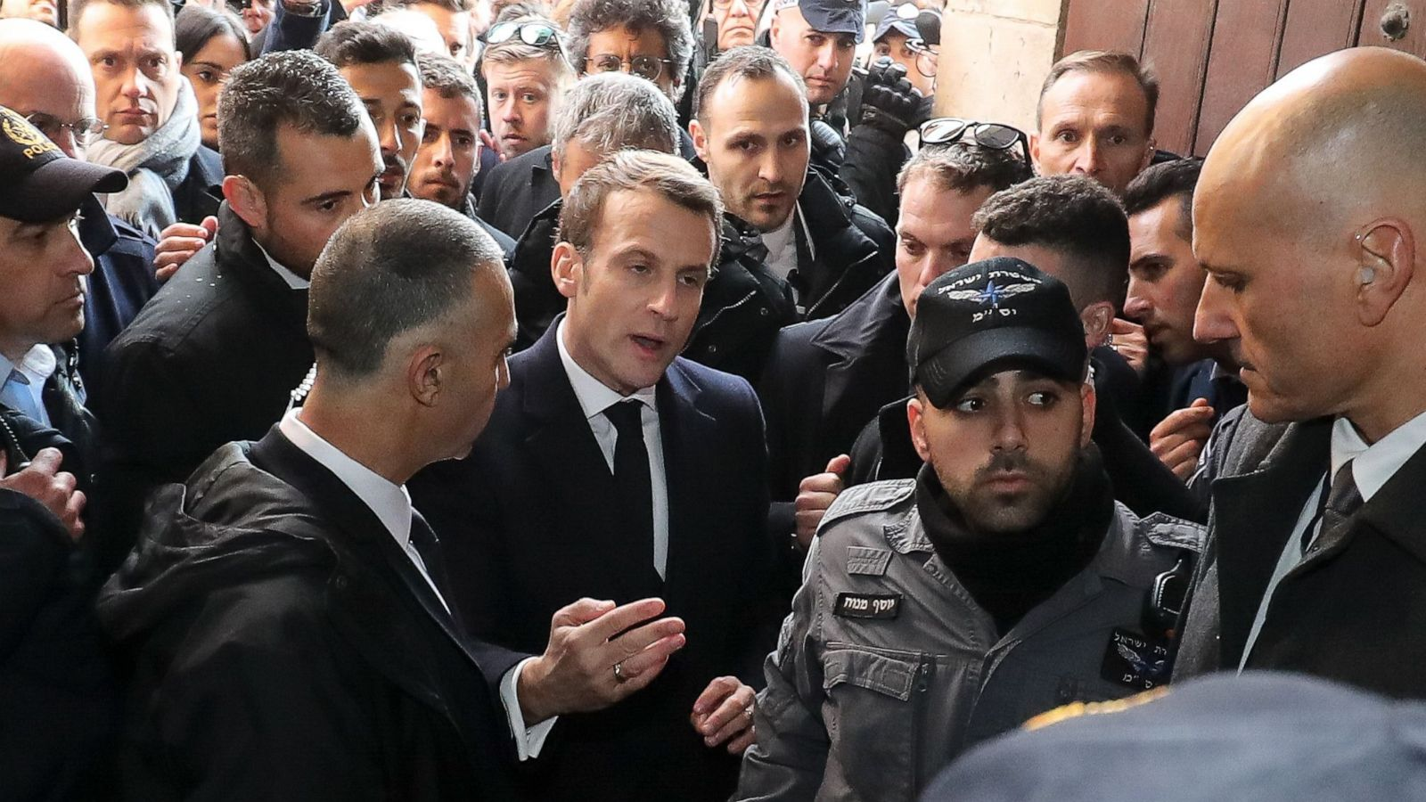 French President Emmanuel Macron Loses His Cool In Argument With Israeli Guards In Jerusalem Abc News