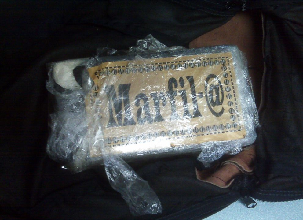 PHOTO: A brick of cocaine recovered from a Sarasota, Fla., warehouse after Ian Thomas cut it open.