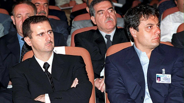 PHOTO: Bashar al-Assad and Manaf Tlass