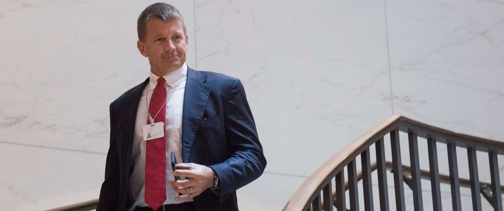 PHOTO:Erik Prince, founder of private military contractor Blackwater USA, arrives to testify during a closed-door House Select Intelligence Committee hearing on Capitol Hill in Washington, D.C., Nov. 30, 2017.