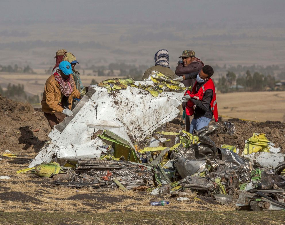 PHOTO: Rescuers work at the scene of an Ethiopian Airlines flight crash near Bishoftu, south of Addis Ababa, Ethiopia, March 11, 2019.