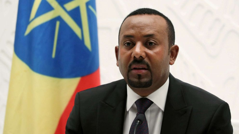Image result for Ethiopia's Prime Minister Abiy Ahmed speaks at a news conference at his office in Addis Ababa, Ethiopia August 1, 2019. REUTERS/Tiksa Negeri/File Photo