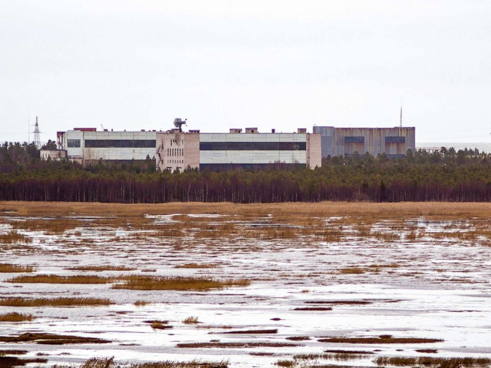 PHOTO: A picture taken on November 9, 2011 shows buildings on a military base in the small town of Nyonoska in the Arkhangelsk region.