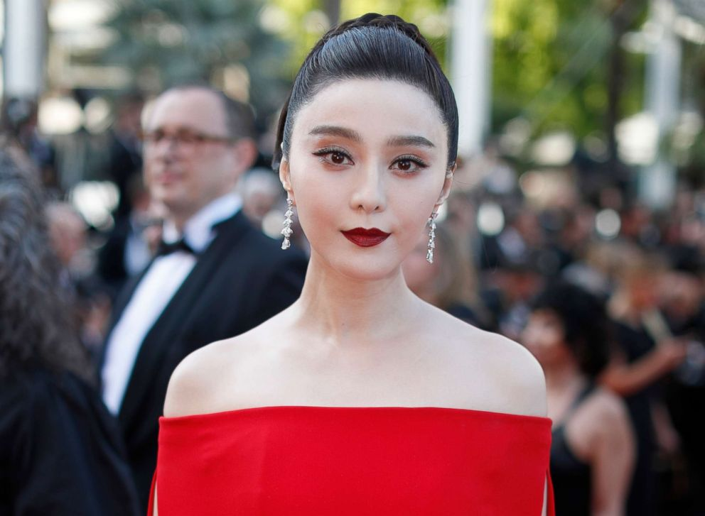 PHOTO: In this May 24, 2017, file photo, Fan Bingbing poses for photographers as she arrives for the screening of the film The Beguiled at the 70th international film festival, Cannes, France.