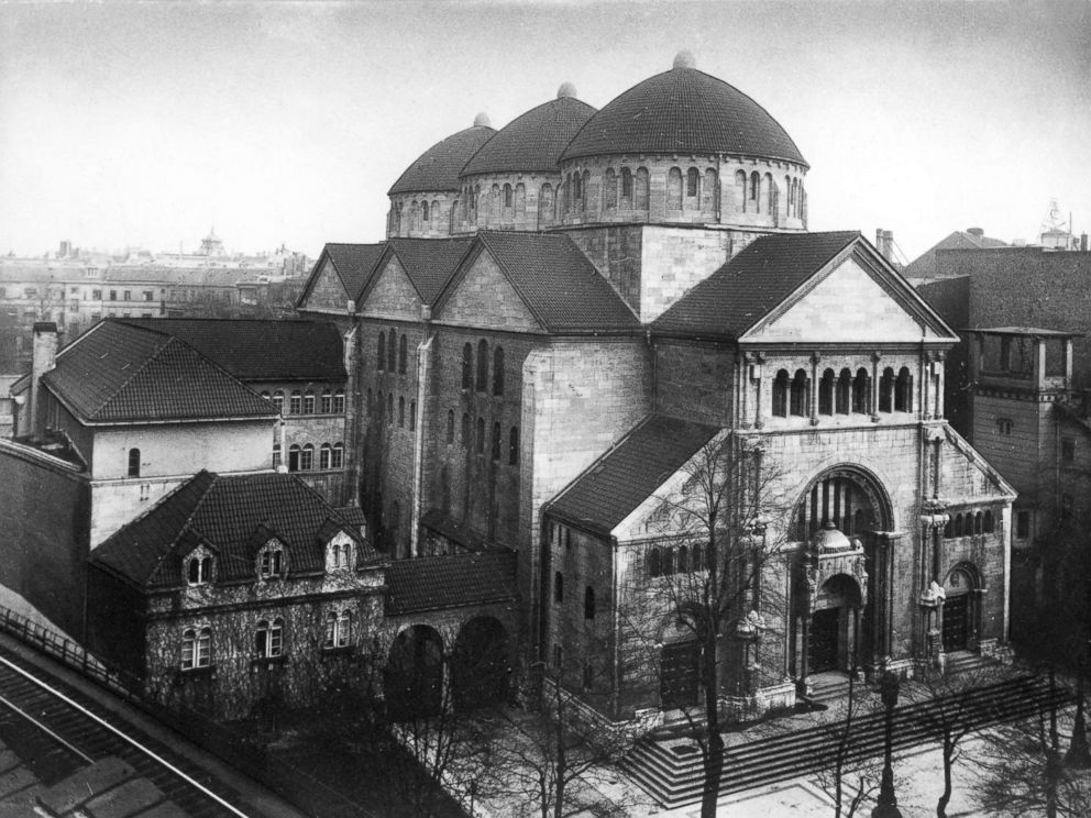 PHOTO: The Fasanenstrasse synagogue, then Berlins largest house of Jewish worship, is pictured circa 1930, eight years before it was burned by Nazis during Kristallnacht.
