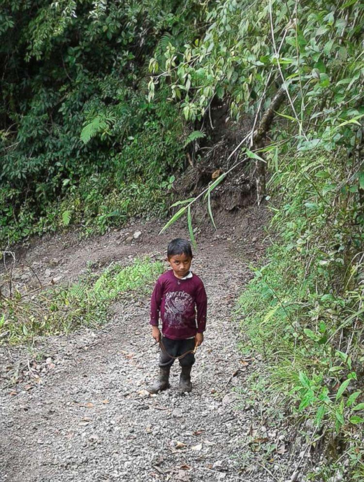 PHOTO: Felipe Gomez Alonzo, then 7, is seen near Laguna Brava in Yalambojoch, Guatemala in this undated photo.