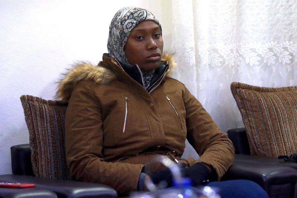 PHOTO: The mother of two Caribbean children who were handed over to her by Syrias Kurds, four years after their jihadist father brought them to the Islamic State groups caliphate, according to a lawyer, is pictured in Qamishli, Syria, Jan. 21, 2019.