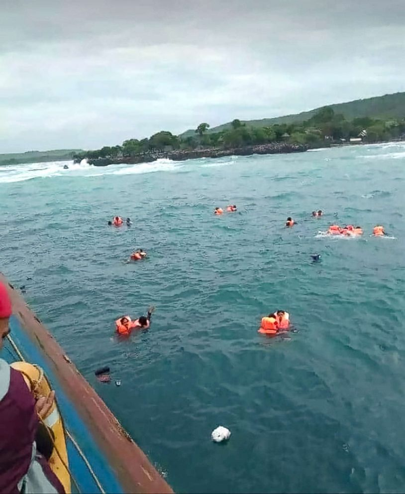 At least 4 dead after sinking ferry run aground off Sulawesi