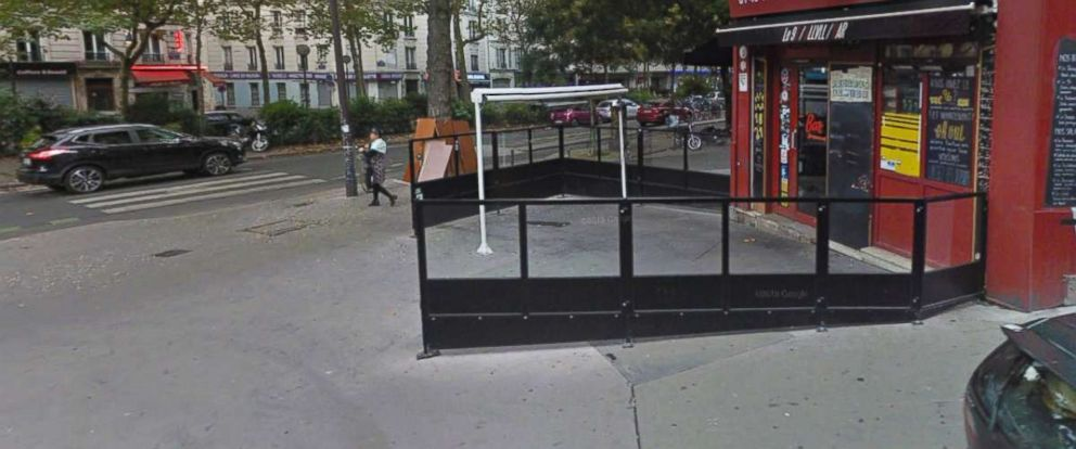 PHOTO: A Google Street View image shows a sidewalk in Paris where a young woman was struck in the face by a man who she says sexually and verbally harassed her.