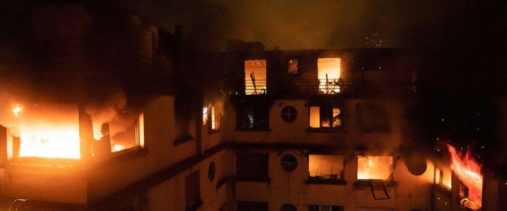 PHOTO: A fire in a building in Paris, Feb. 5, 2019.