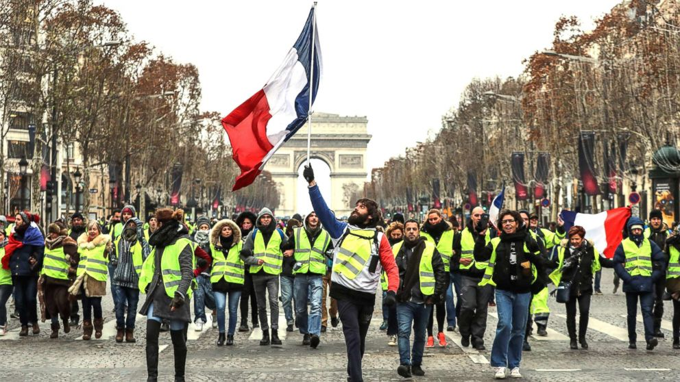 Image result for france yellow vests protest