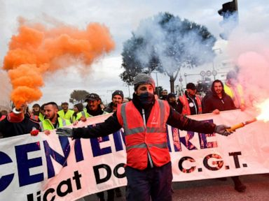 Mass strikes take place across France against pension reforms