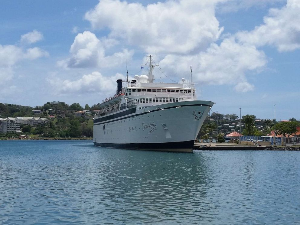 driving  street PHOTO: St. Lucia Marine Police have confirmed to ABC News that the boat quarantined due to a possible case of measles at the island nation is the Freewinds, which belongs to the Church of Scientology.
