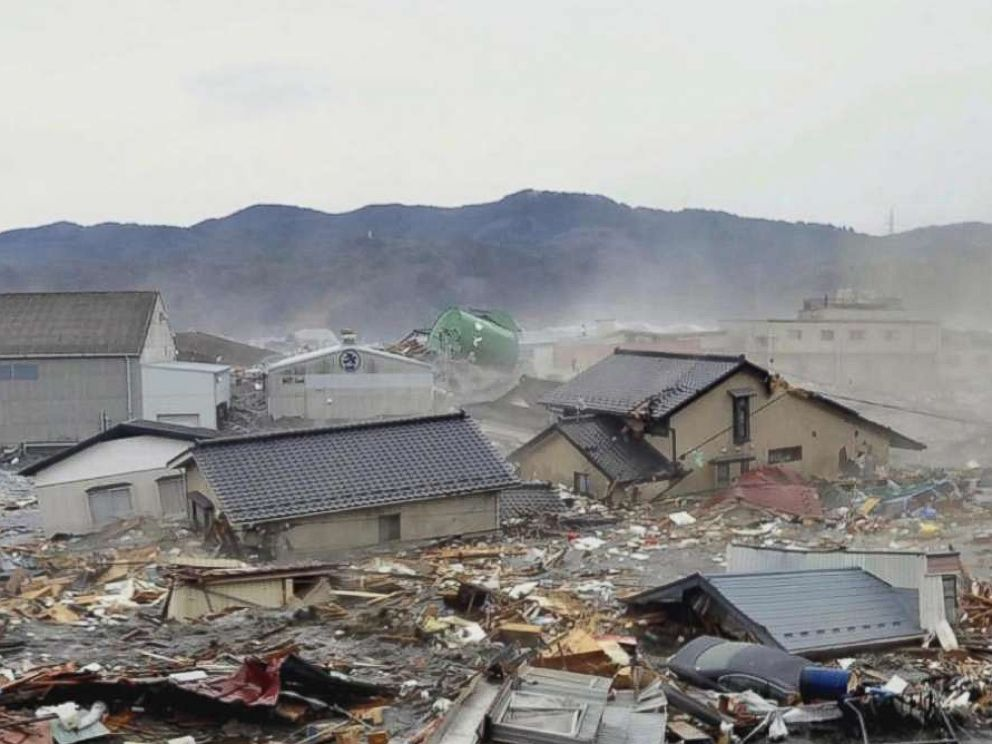 PHOTO: The Fukushima area was devastated after a tsunami triggered a radioactive release at the Fukushima Daiichi Nuclear Power Plant in March 2011.