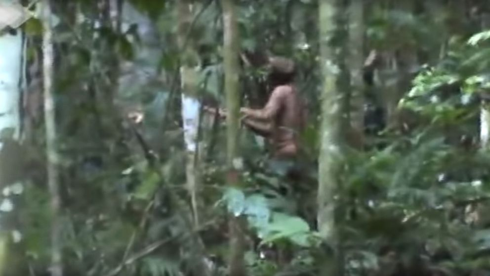 Images show the lone survivor of an Amazonian tribe, according to FUNAI, a Brazilian government agency that protects the interests of natives.