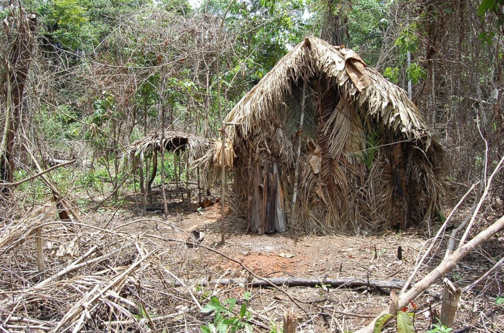 PHOTO: A straw house known as maloca, which was built by the lone survivor of an Amazonian tribe, according to FUNAI, a Brazilian government agency that protects the interests of natives.