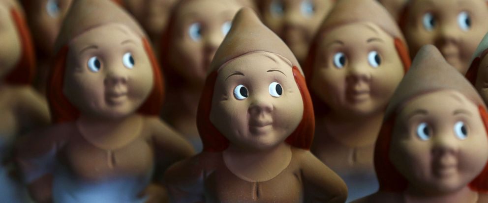 PHOTO: Garden gnomes are pictured at Garden Gnome Manufactory Philipp Griebel, in Graefenroda near Erfurt, Germany, March 5, 2019.