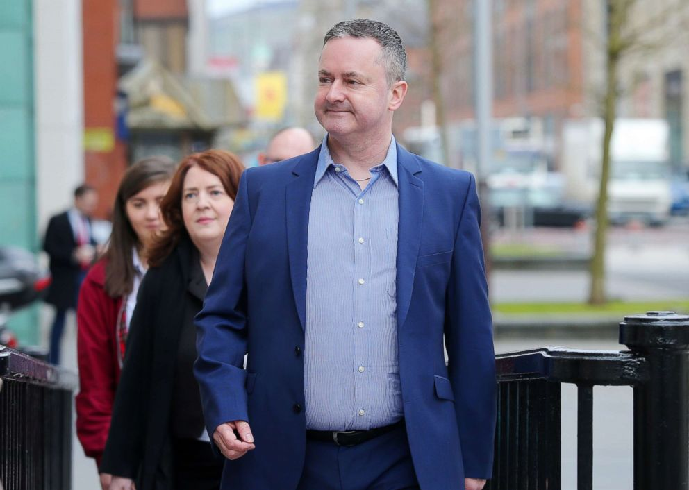 PHOTO: Gareth Lee is pictured entering the Royal Courts of Justice in Belfast, Northern Ireland, May 1, 2018.