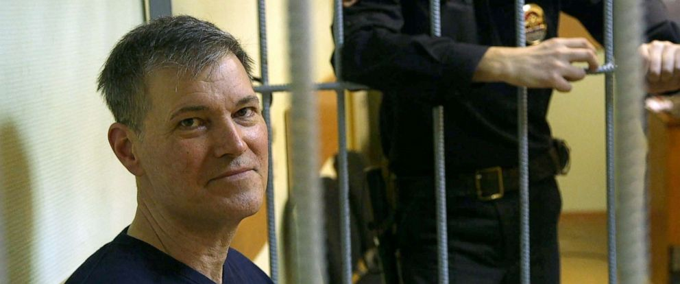 PHOTO: Gaylen Grandstaff in a Moscow courtroom.