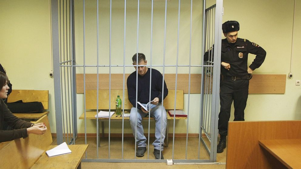 PHOTO: Gaylen Grandstaff in a courtroom in Moscow.