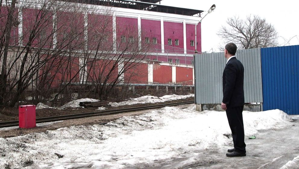 PHOTO: After two years, Gaylen looks at jail from the outside.