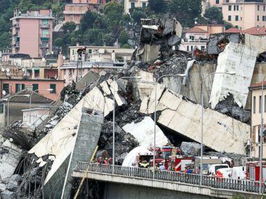 Death toll rising in Italy bridge collapse amid desperate search for survivors