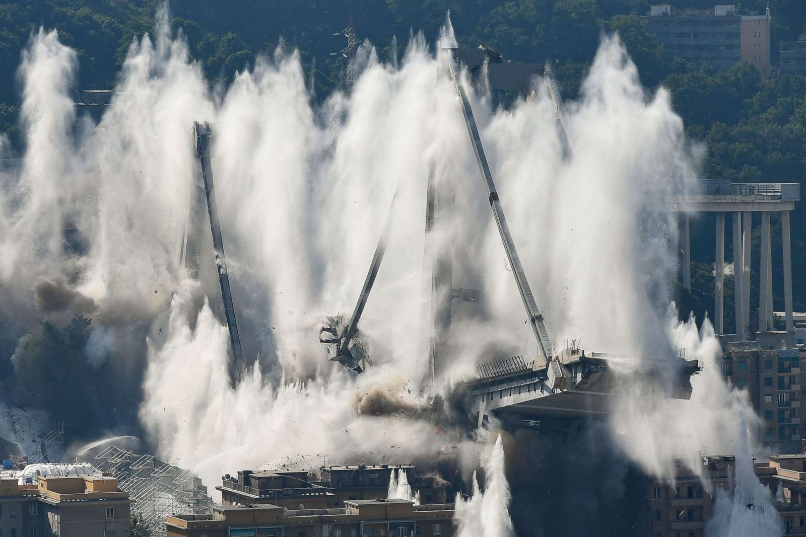 IMG GENOA BRIDGE DEMOLISHED
