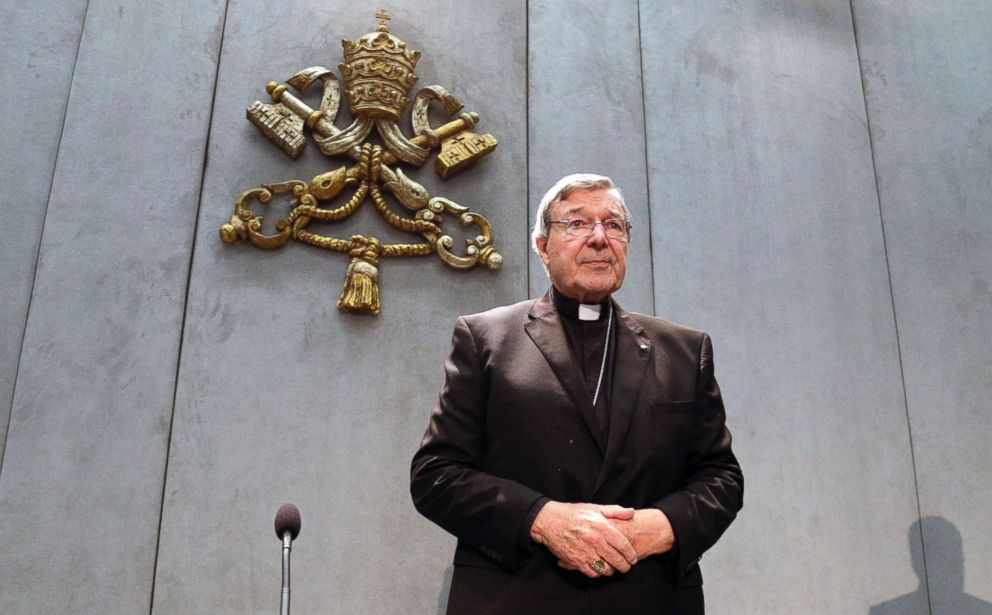 PHOTO: Cardinal George Pell arrives to make a statement at the Vatican, June 29, 2017.