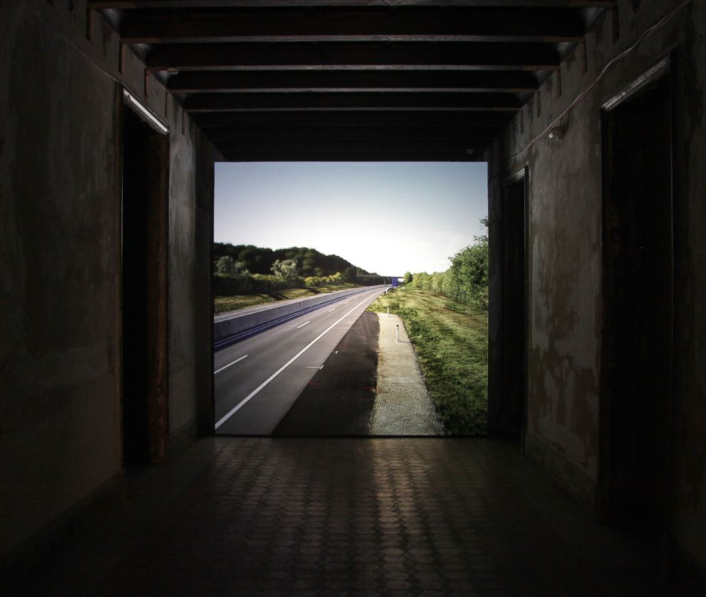 PHOTO: The installation Untitled (near Parndorf, Austria), 2018 shows the site where 71 asylum-seekers were found dead in the back of a truck.