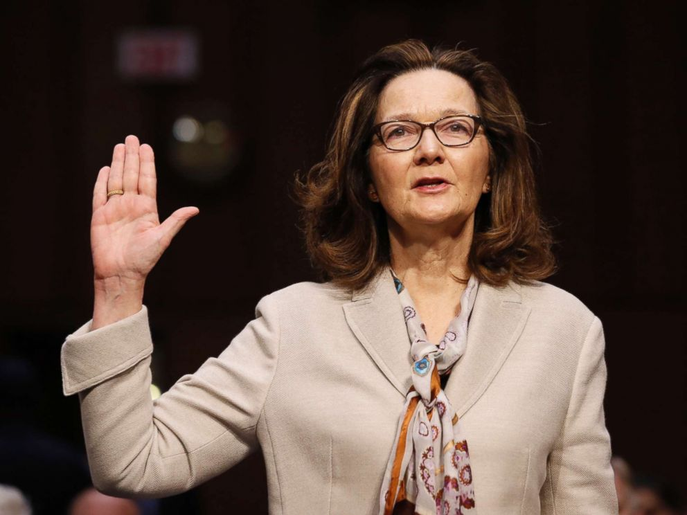 PHOTO: CIA nominee Gina Haspel is sworn in at some level of a affirmation hearing of the Senate Intelligence Committee on Capitol Hill, Might presumably just 9, 2018, in Washington.