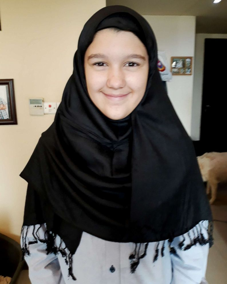 PHOTO: Grace Lloyd, 11, took part in the 30-Day Hijab challenge this year.