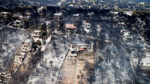 Death toll from fires in Greece climbs to 91 as investigation points toward arson