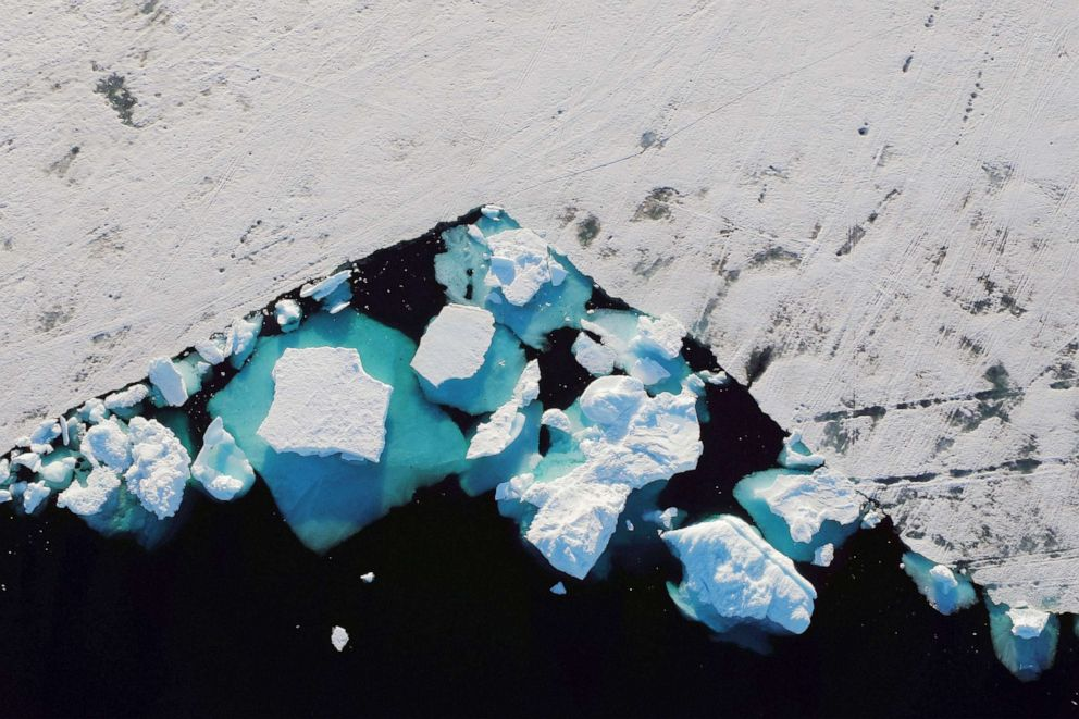 PHOTO: An iceberg floats in a fjord near the town of Tasiilaq, Greenland, June 18, 2018.