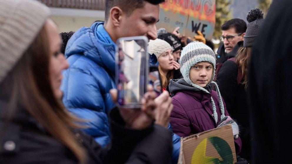 Greta Thunberg verbindet Klima-Streik am letzten Tag in Davos