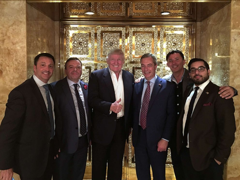 PHOTO: Arron Banks, Andy Wigmore and Nigel Farage pictured with Donald Trump at Trump Tower on November 10th, 2016.