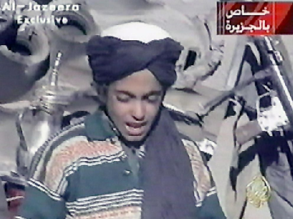 PHOTO: This file frame grab photo taken on, Nov. 7, 2001, shows Hamza, who appears to be the youngest son of Saudi born Osama bin Laden, as he recites a poem, in this frame grab taken from the Qatar based al-Jazeera satellite news channel.