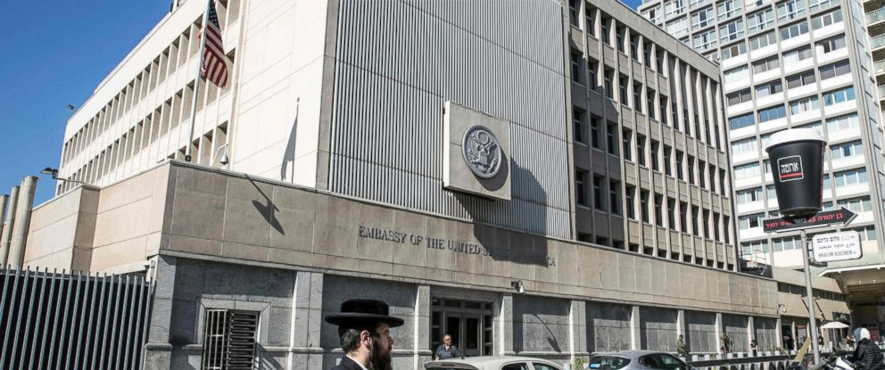 PHOTO: The exterior of the US Embassy building in the Israeli coastal city of Tel Aviv, Jan. 20, 2017.