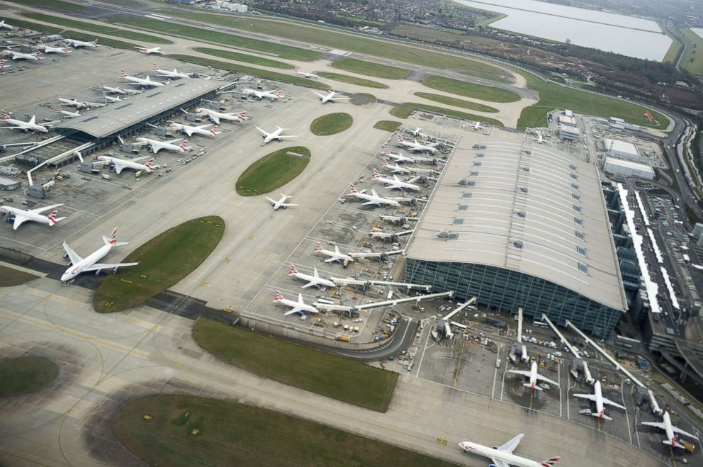 PHOTO: An aerial view of Heathrow Airport in London, England, March 01, 2017.