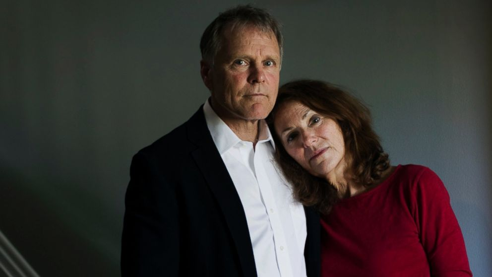 Fred and Cindy Warmbier, the parents of Otto Warmbier, stand in their home in Wyoming, Ohio, April 26, 2017.
