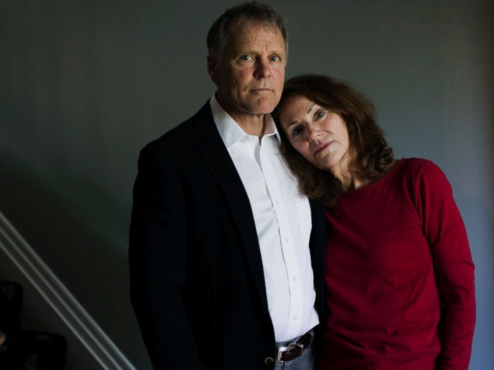 PHOTO: Fred and Cindy Warmbier, the parents of Otto Warmbier, stand in their home in Wyoming, Ohio, April 26, 2017.
