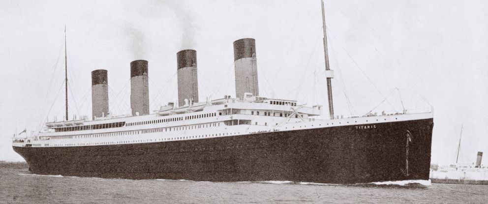 PHOTO: The 46,328 ton RMS Titanic of the White Star Line which sank at 2:20 AM Monday morning April 15 1912 after hitting an iceberg in North Atlantic.