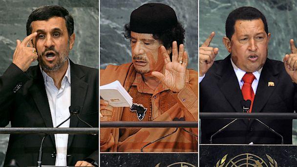 PHOTO: Mahmoud Ahmadinejad, Moammar Gadhafi, Hugo Chavez at U.N. General Assembly