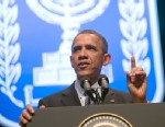 PHOTO: US President Barack Obama speaks on US, Israel and Mideast relations at the Convention Center in Jerusalem, on March 21, 2013, on the second day of his 3-day trip to Israel and the Palestinian territories.