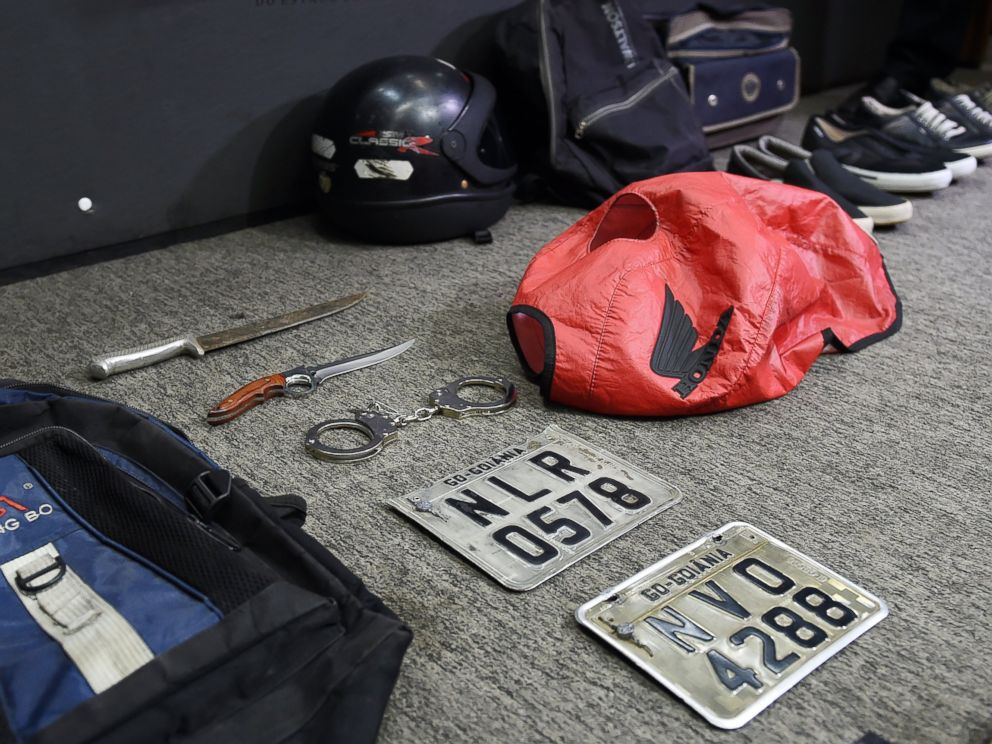 PHOTO: Picture of objects seized during the arrest of alleged serial killer Tiago Gomes da Rocha, suspected of killing 39 people, at the Department of Security in Goiania, Brazil, on Oct. 16, 2014.