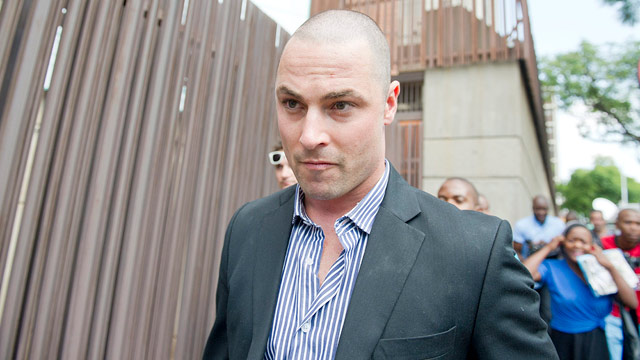 PHOTO: Oscar Pistoriuss brother, Carl Pistorius, is seen outside the Pretoria Magistrate Court on Feb. 19, 2013 in Pretoria, South Africa.