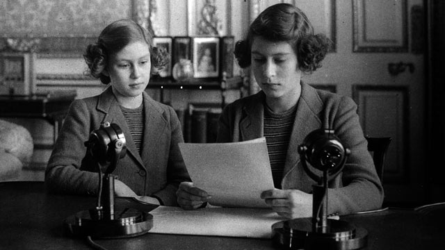 PHOTO: Then-Princess Elizabeth, right, is shown broadcasting with her sister Princess Margaret, in this 1940 file photo.