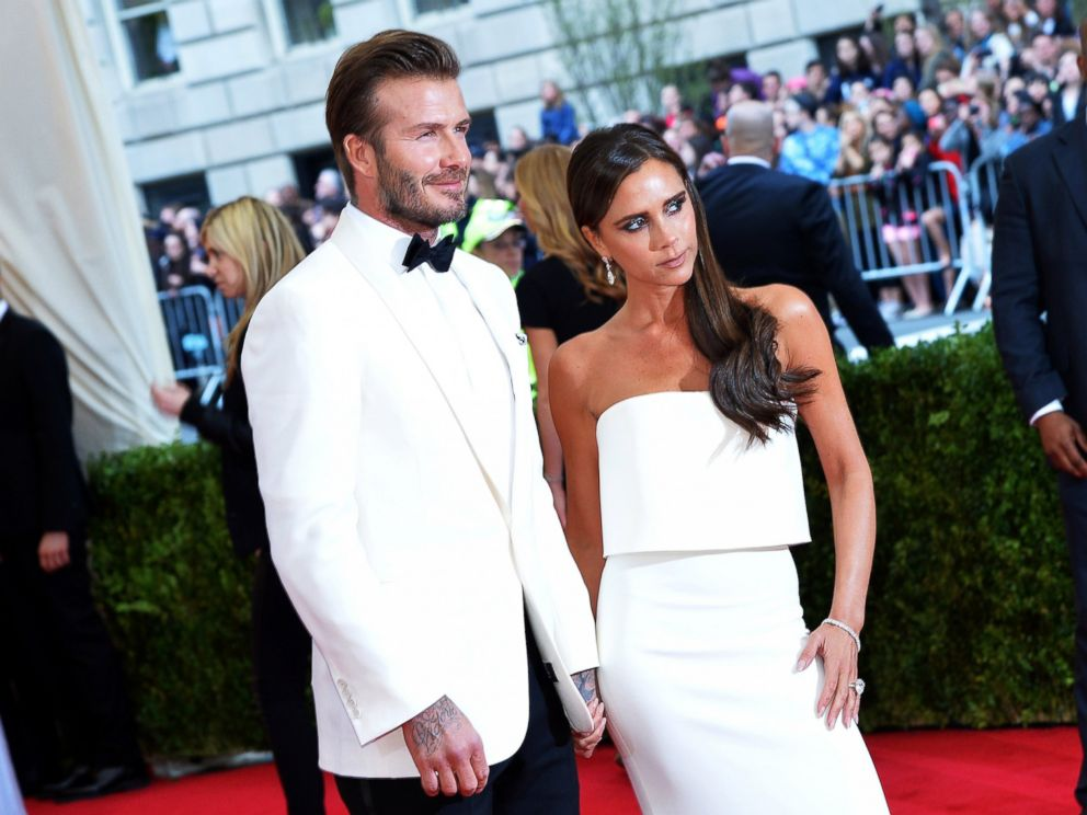 PHOTO: David and Victoria Beckham attend the Charles James: Beyond Fashion Costume Institute Gala at the Metropolitan Museum of Art on May 5, 2014 in New York City.