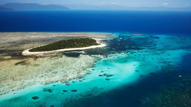 PHOTO: Aerial of Green Island, Great Barrier Reef Marine Park, Australia.