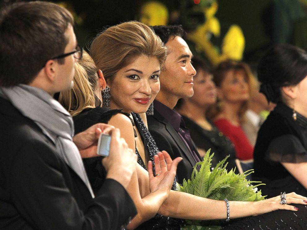 PHOTO: H.E.Dr Gulnara Karimova chairwoman of the Board of trustees fund forum attends the General Defile By Dom Stilya at The Youth Art Palace on Oct. 9, 2012 in Tashkent, Uzbekistan.