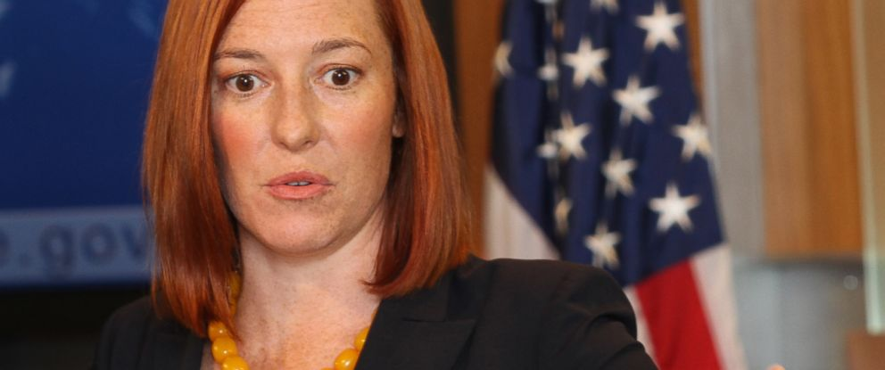 PHOTO: State Department spokesperson Jennifer Psaki speaks at a press conference in Washington D.C. on Oct. 16, 2014.